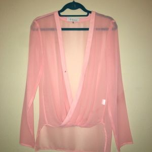 Wayf! Sheer Gorgeous Pink Blouse!